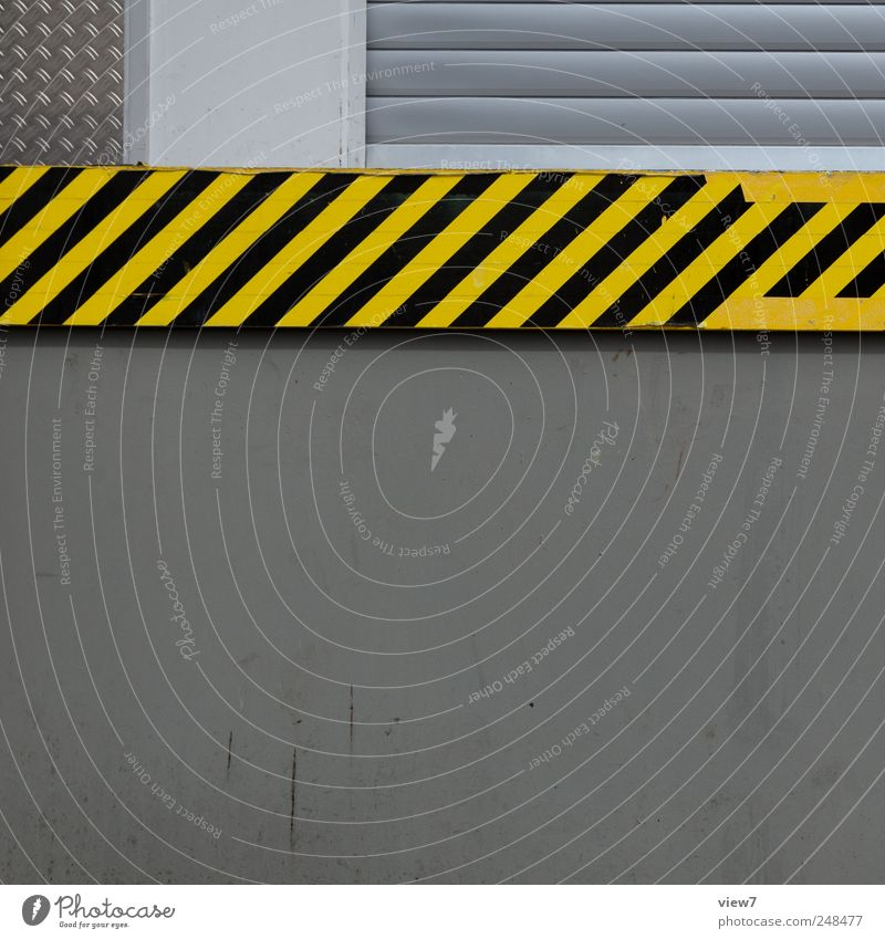 stripes House (Residential Structure) Industrial plant Building Wall (barrier) Wall (building) Facade Stone Concrete Signs and labeling Signage Warning sign
