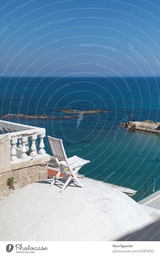 Vacation & Travel Blue Beautiful White Ocean Relaxation Calm Far-off places Building Tourism Exceptional Vantage point Beautiful weather Roof Manmade structures