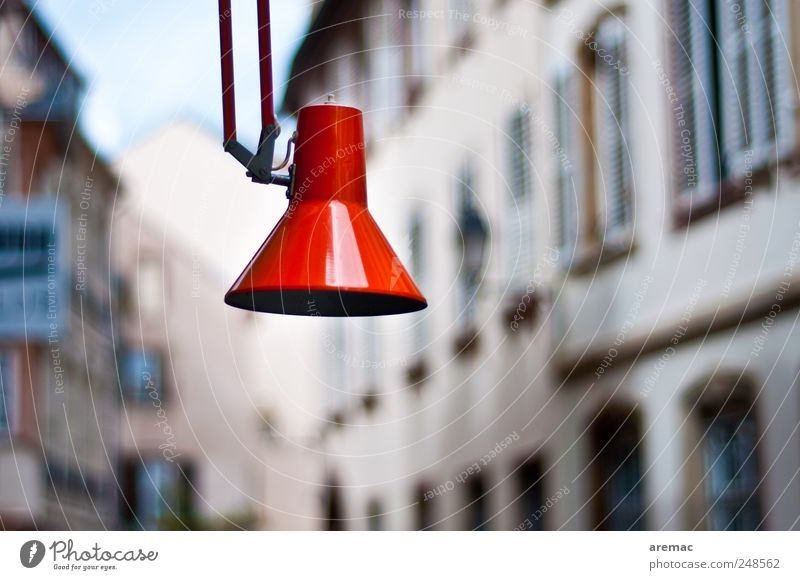 City Red House (Residential Structure) Building Lamp Street lighting Downtown Old town
