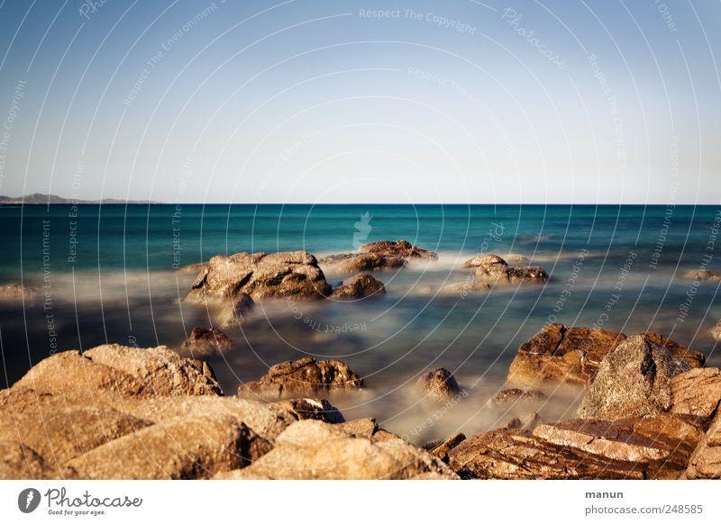 Cala Giunco Vacation & Travel Nature Landscape Elements Water Sky Horizon Rock Coast Beach Bay Reef Ocean Sardinia Authentic Far-off places Natural Wild Blue