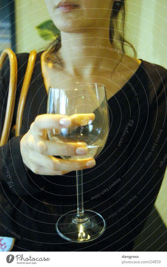 Woman Beautiful Calm Mouth Wait Glass Wine Lips Alcoholic drinks Handbag