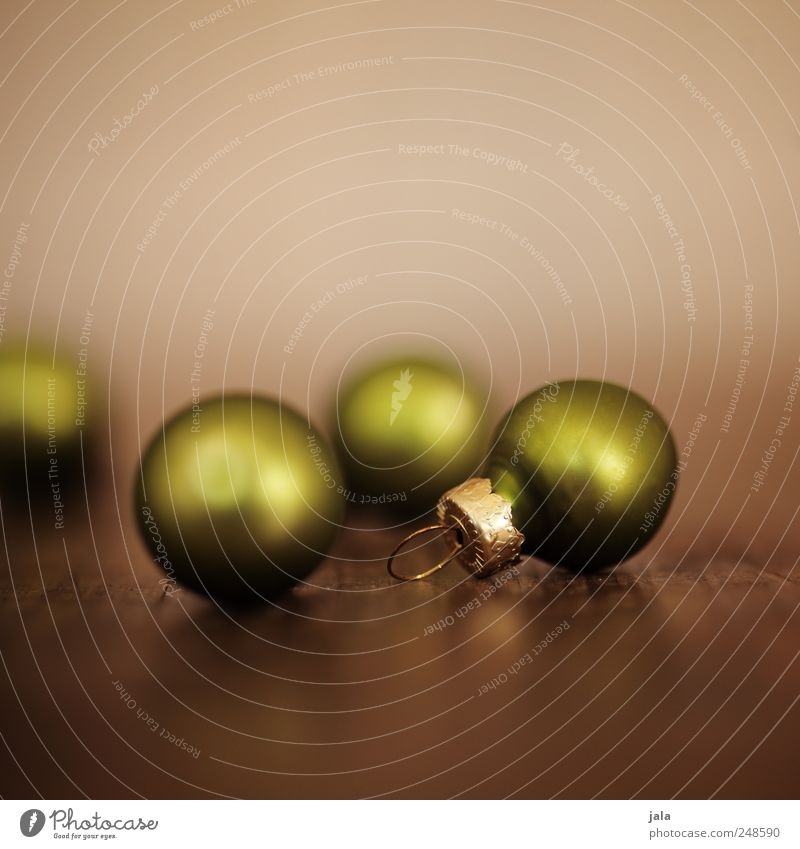 Christmas Ornaments Decoration Feasts & Celebrations Kitsch Odds and ends Esthetic Glittering Beautiful Brown Green Anticipation Glitter Ball