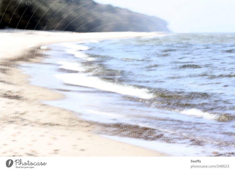 Come on, we'll walk. Vacation & Travel Beach Ocean Waves Coast Lakeside Bay Baltic Sea Recreation area Vacation destination Sandy beach Beautiful Blue Yellow