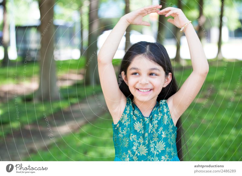 Playful child Body Dance Child Woman Adults Ballet Nature Fitness To enjoy Smiling Laughter Sports Friendliness Uniqueness Small Natural Cute Emotions Joy Happy