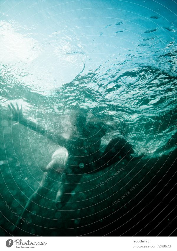 aquaplaning Leisure and hobbies Vacation & Travel Freedom Summer Summer vacation Ocean Waves Human being 1 Water Beautiful weather Dive Dream Fantastic Fluid