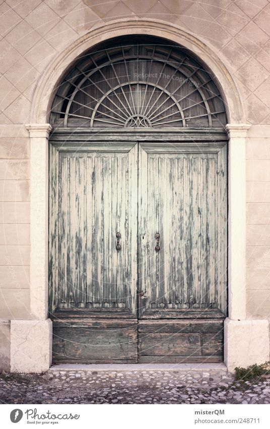 Old House (Residential Structure) Door Facade Closed Esthetic Village Gate Entrance Nostalgia Pastel tone Front door Public agencies and adminstrations