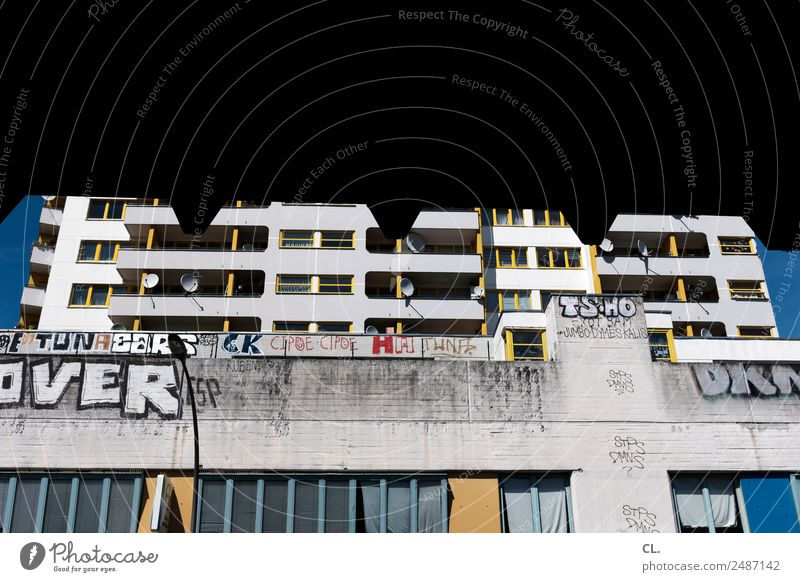 Town House (Residential Structure) Architecture Graffiti Wall (building) Berlin Building Wall (barrier) Facade Living or residing Dirty High-rise Authentic