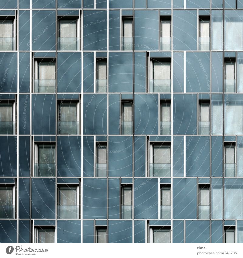 air conditions House (Residential Structure) Sky Clouds Town Port City High-rise Building Architecture Facade Window Glass Sharp-edged Tall Modern Reliability