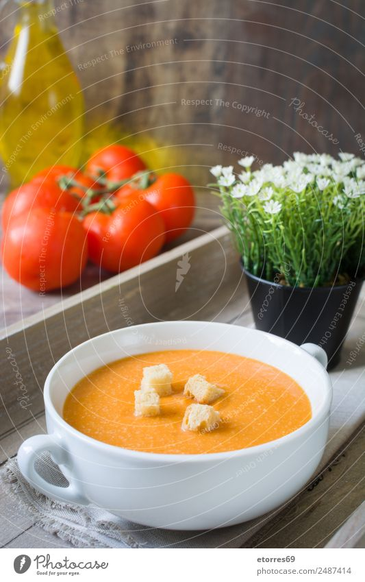 Pumpkin soup in white bowl and ingredients on wooden table Food Healthy Eating Food photograph Dish Vegetable Soup Stew Nutrition Organic produce