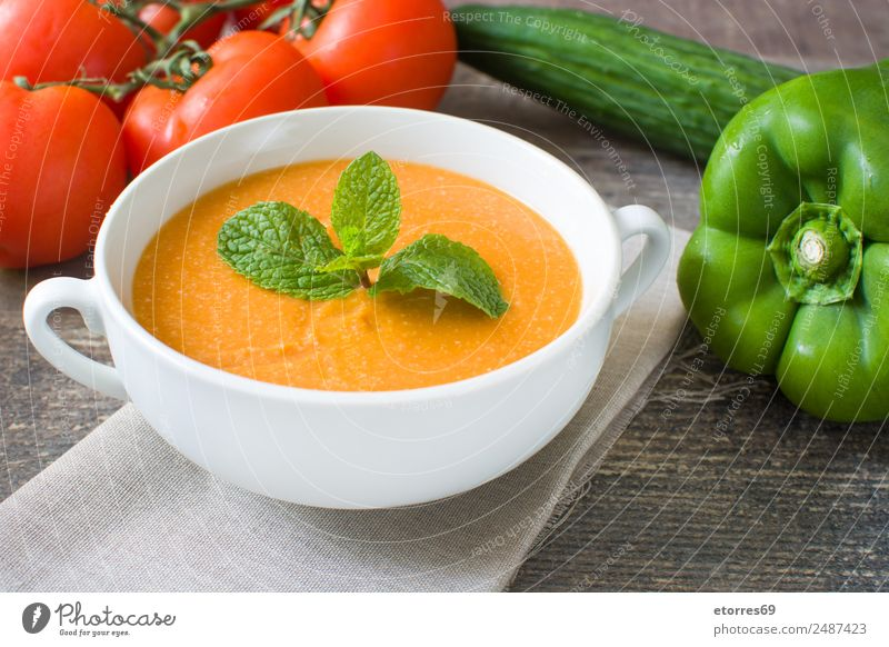Pumpkin soup in white bowl and ingredients on wooden table Food Healthy Eating Dish Food photograph Vegetable Soup Stew Nutrition Organic produce