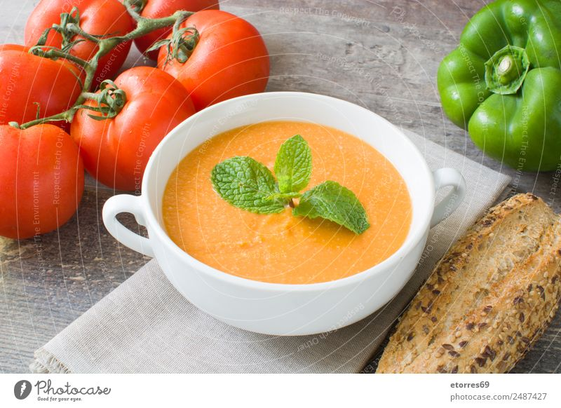 Pumpkin soup Food Vegetable Soup Stew Nutrition Organic produce Vegetarian diet Healthy Health care Thanksgiving Fresh Good Green Orange Red Tomato Pepper