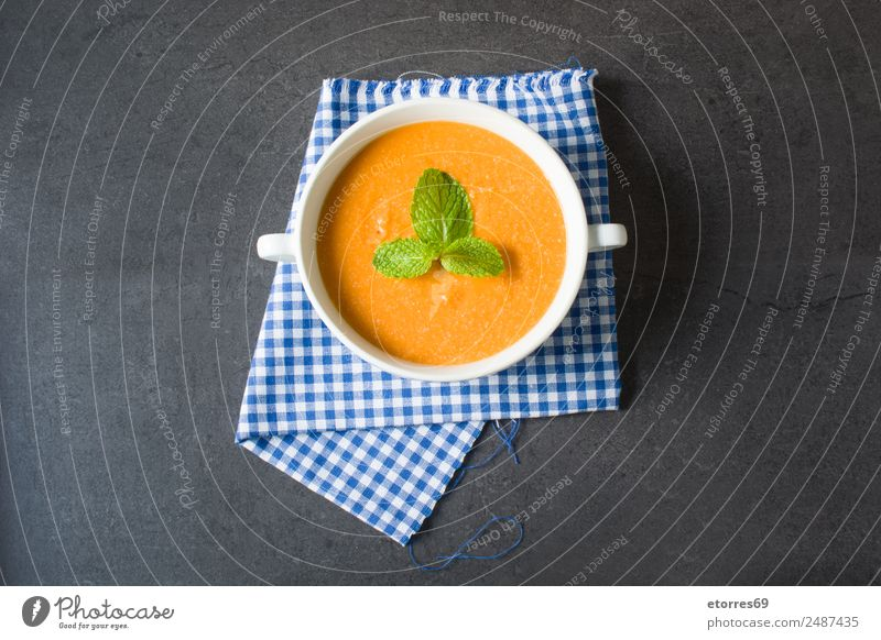 Pumpkin soup Food Vegetable Nutrition Lunch Vegetarian diet Diet Bowl Thanksgiving Fresh Healthy Good Green Orange Black Soup Vegan diet Leaf Slate