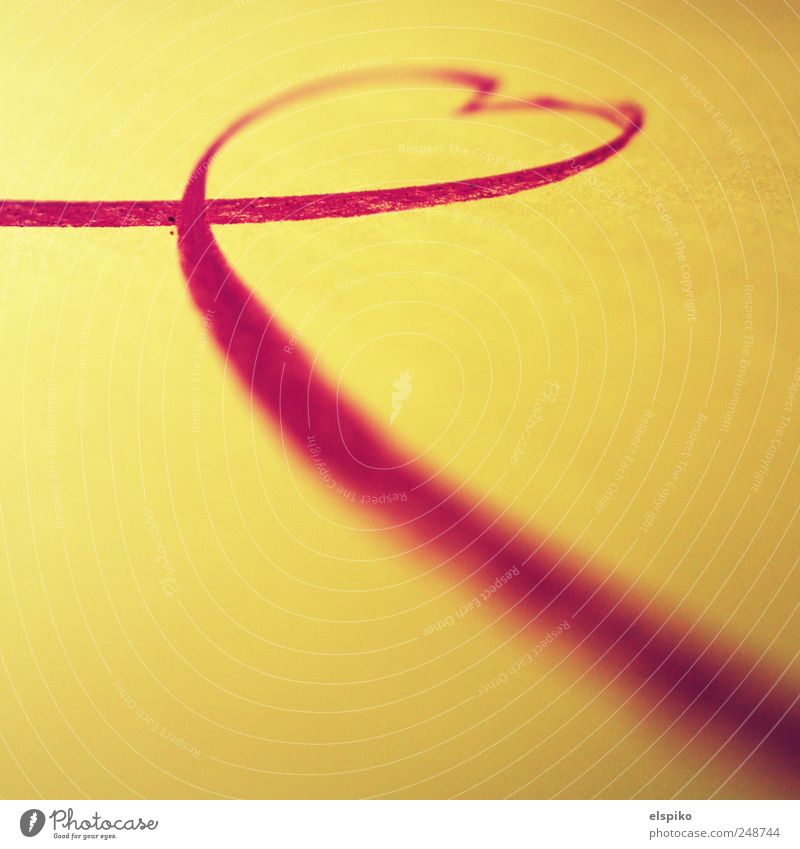 Red Love Yellow Art Heart Sign Chalk Bow Work of art