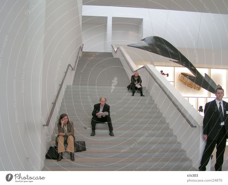 art gallery Human being Stairs Picture gallery