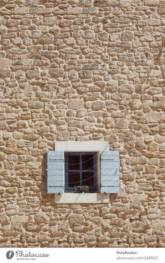 #A# basement window Hut Esthetic Window View from a window Window transom and mullion Window frame Windowsill Small Opening Mediterranean France Provence