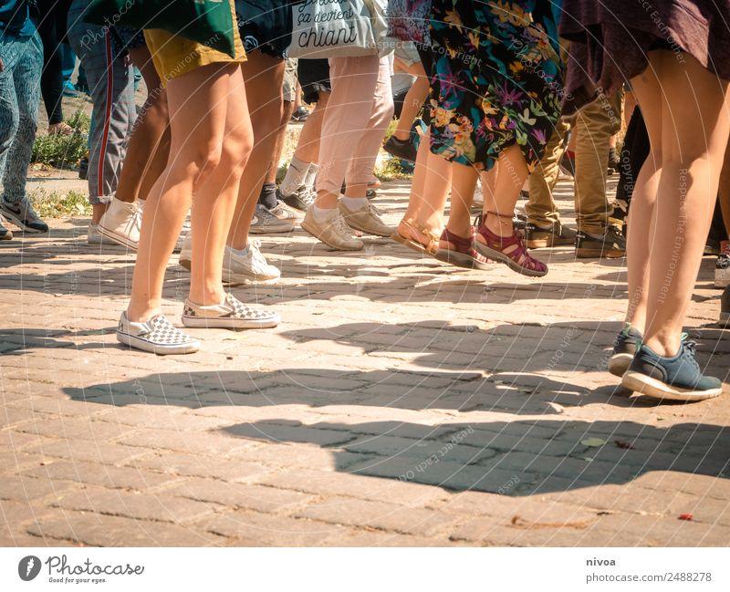 Woman Human being Man Joy Adults Legs Feminine Movement Berlin Happy Feet Feasts & Celebrations Group Jump Masculine Park