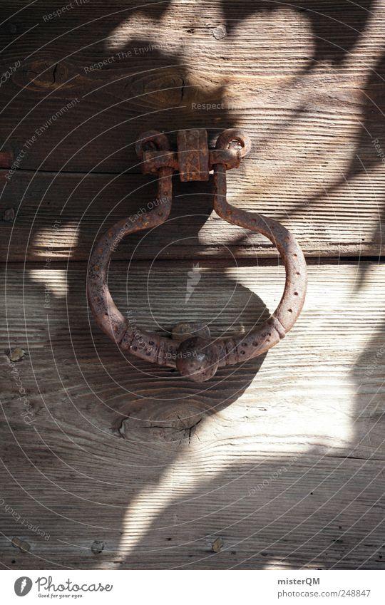 Old Dark Garden Wood Door Adventure Closed Esthetic Mysterious Gate Historic Entrance Hide Mystic Museum Door handle