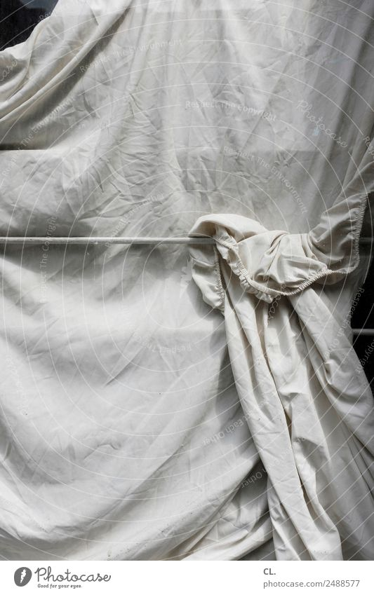 White Window Esthetic Protection Cloth Wrinkles Hide Concealed Covered Private Sheet Screening Envelop Private sphere