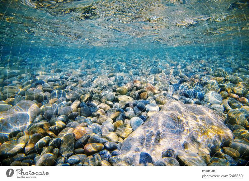 Nature Water Blue Ocean Stone Coast Lake Waves Natural Perspective Authentic River Elements Simple Pure Under