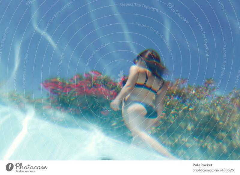 #A# Water Mermaid Art Kitsch Trade Perspective Woman Eroticism Model Manikin Bikini Bottom Womens back Vacation & Travel Vacation photo Vacation mood