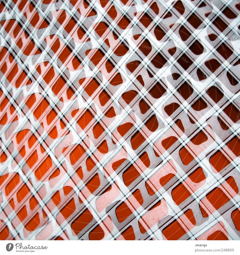 Red Colour Style Metal Design Uniqueness Exceptional Chaos Surrealism Grating
