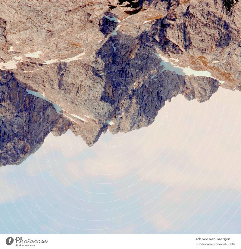 Sky Clouds Far-off places Mountain Landscape Rock Alps Peak Beautiful weather Snowcapped peak