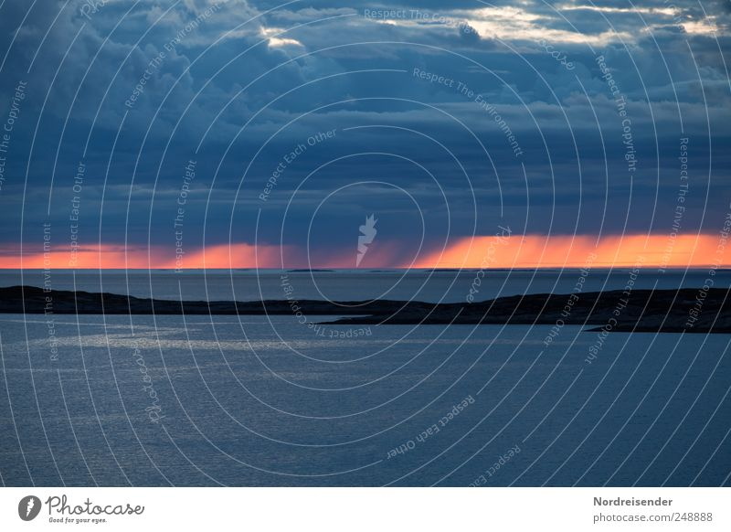 Sky Nature Blue Ocean Vacation & Travel Clouds Calm Life Landscape Rain Horizon Island Esthetic Climate Observe Storm