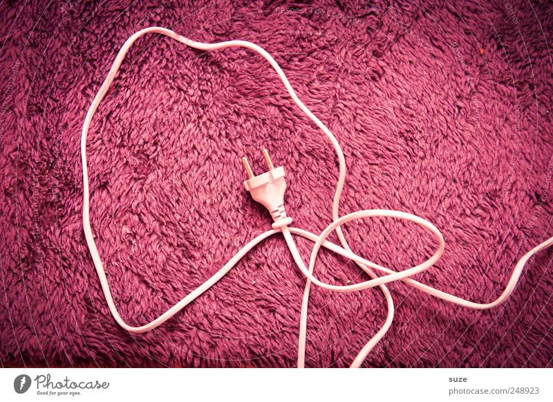 White Pink Energy Electricity Cable Cloth Technology Pelt Material Cuddly Connector Thrifty Terminal connector