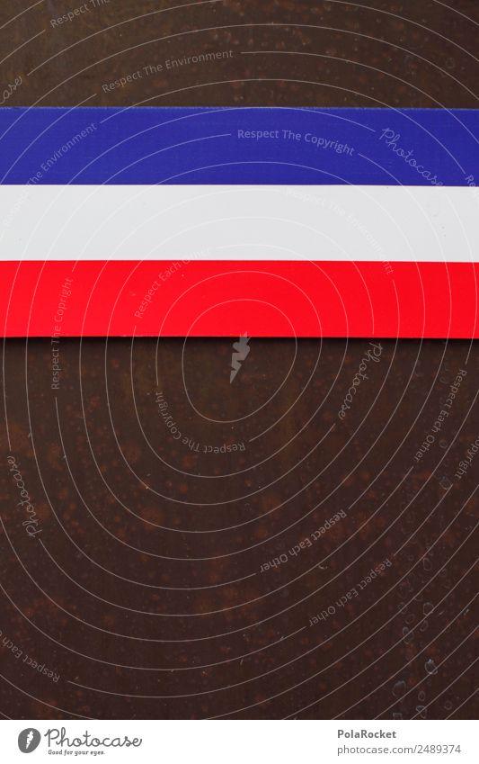 #A# tricolore Art Work of art Esthetic Tricolor France Blue Red White Stripe Striped Flag Europe 3 Colour photo Multicoloured Exterior shot Detail Experimental