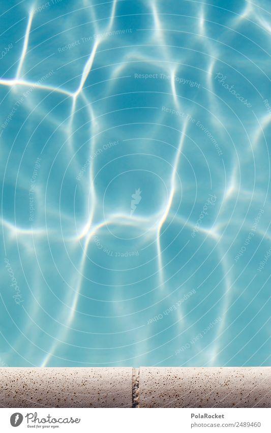 #A# Pool edge Environment Nature Esthetic Summer Summer vacation Swimming pool Blue Waves Vacation & Travel Vacation photo Vacation mood Water Surface of water