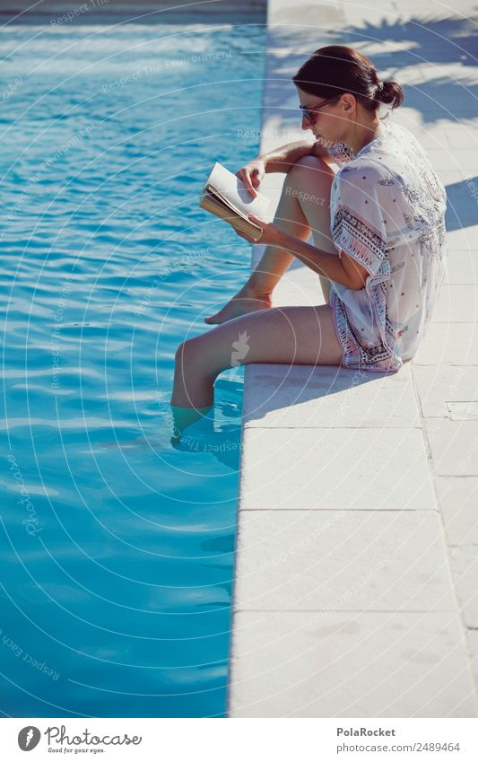 #A# Relaxed time 1 Human being Esthetic Contentment Elegant Vacation & Travel Leisure and hobbies Culture Joie de vivre (Vitality) Reading Book Page Woman