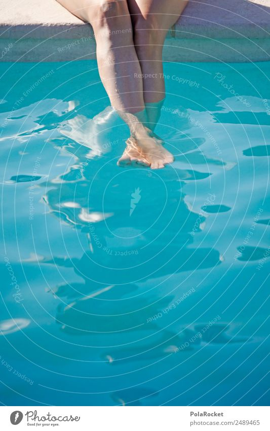Woman Human being Vacation & Travel Summer Blue Water Relaxation Warmth Legs Cold Esthetic Wellness Summer vacation Swimming pool Surface of water Summery