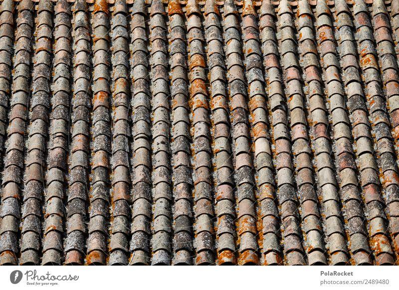 Art Arrangement Roof Many France Mediterranean Row Work of art Effort Roofing tile Orderliness Provence Brick red