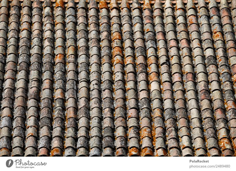 #A# Lots of roof Art Work of art Effort Roof Roofing tile Many Mediterranean France Provence Brick red Pattern Row Arrangement Orderliness Colour photo