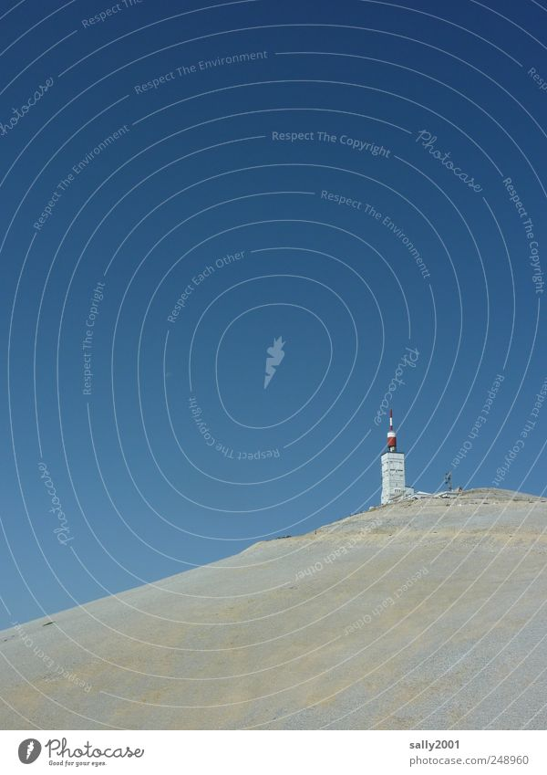 Tour de France - Mountain Arrival Climbing Mountaineering Cycle race Observatory Weather station Nature Landscape Cloudless sky Sunlight Summer