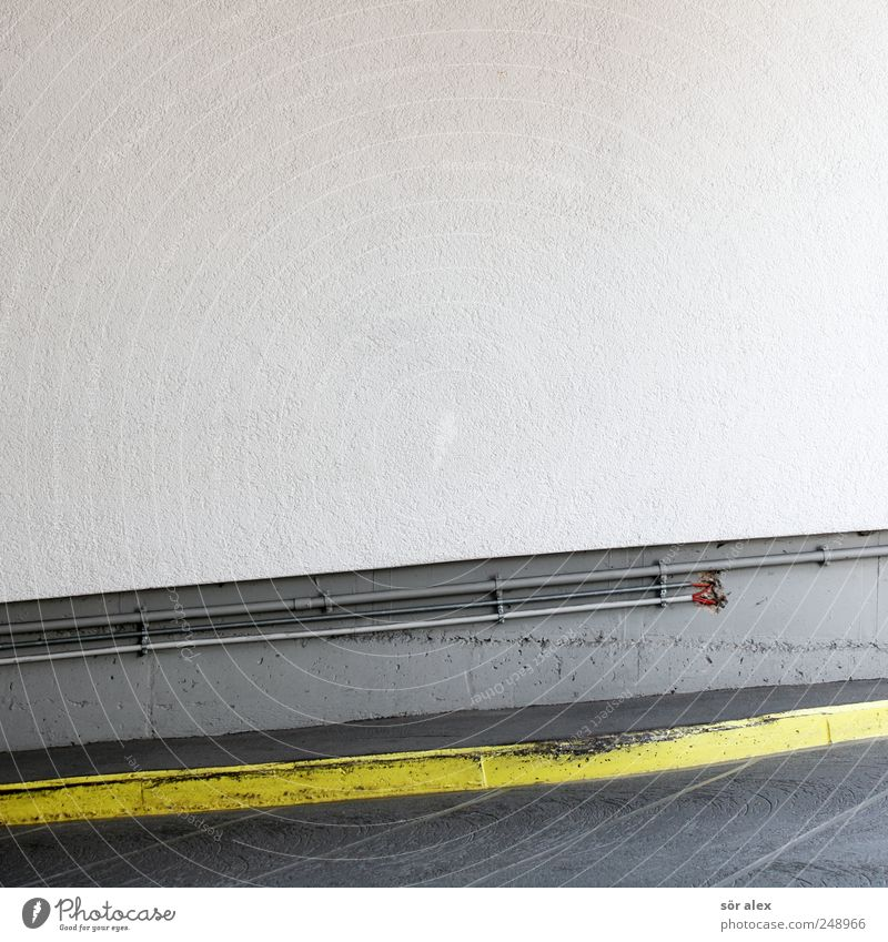White Yellow Wall (building) Gray Wall (barrier) Stone Building Line Facade Concrete Arrangement Cable Construction site Craft (trade) Parking Smoothness