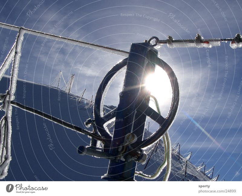 Sky Sun Winter Cold Mountain Snow Ice Technology Rope Frost Coil Electrical equipment