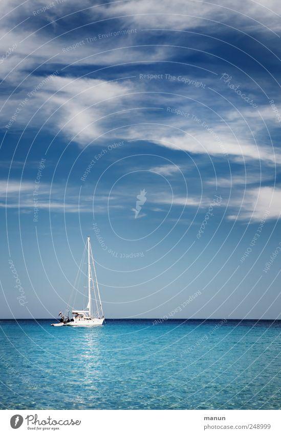 Sky Blue Water Vacation & Travel Ocean Summer Joy Loneliness Far-off places Relaxation Landscape Authentic Lifestyle Sailing Luxury Joie de vivre (Vitality)