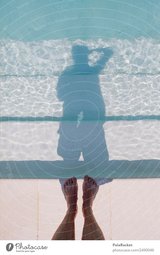 #A# Selfie Art Work of art Esthetic Swimming pool Water Surface of water Watercolor Photographer Photography Take a photo Hotel pool Shadow Self-confident