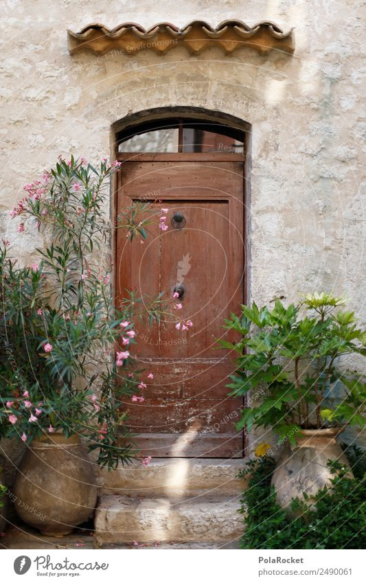 #A# Door with style Art Esthetic France Provence Doorframe Knocker Door handle Canopy Mediterranean Front garden Living or residing Flat (apartment)