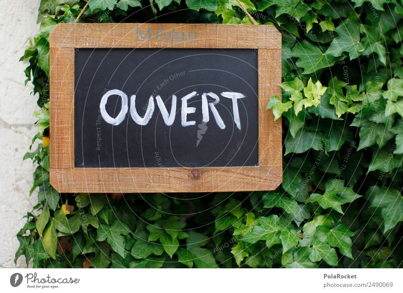 Green Art Open Esthetic Signs and labeling France Advertising Advertising Industry Blackboard Provence Overture