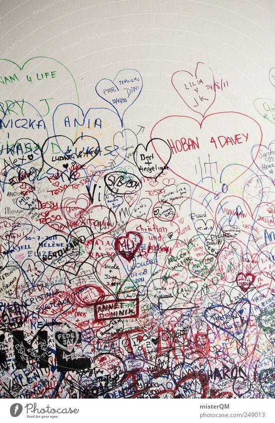 Scribble. Art Work of art Esthetic Wall (building) Daub Graffiti Heart Love Lovesickness Declaration of love Display of affection With love Verona