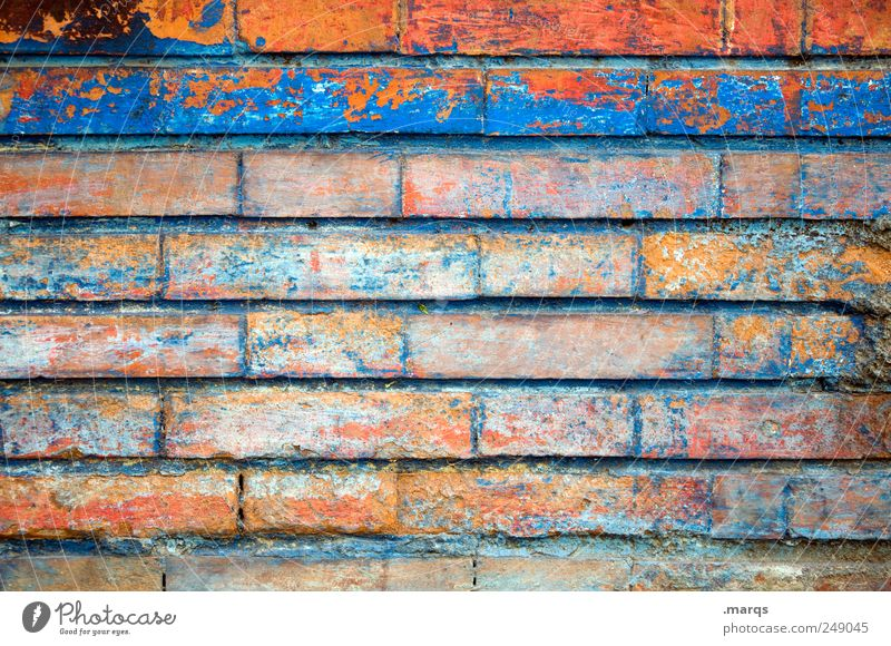 wall Lifestyle Work and employment Bricklayer Wall (barrier) Wall (building) Uniqueness Multicoloured Colour Brick wall Border Colour photo Exterior shot