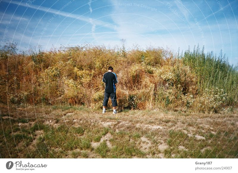 Human being Sky Man Nature Water Vacation & Travel Clouds Life Landscape Grass Style Large Break Poster Urinate Advertising executive