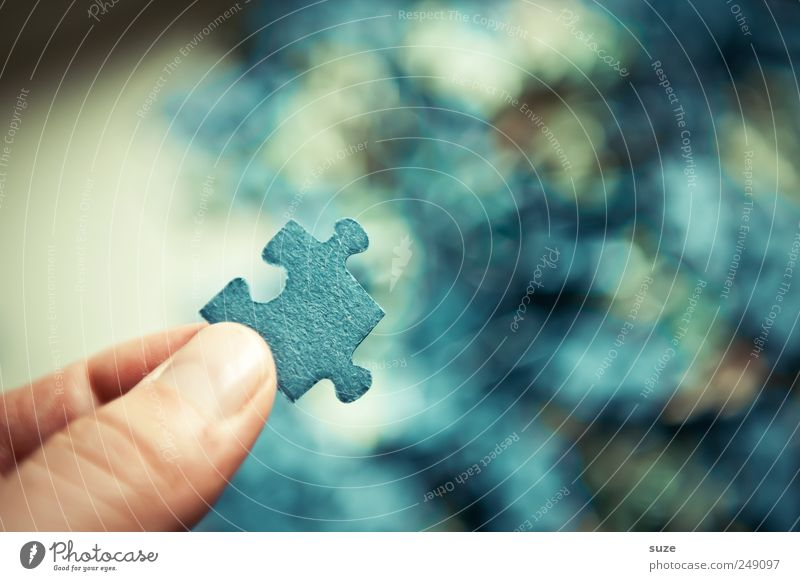 Blue Playing Small Leisure and hobbies Fingers Search Simple Creativity To hold on Toys Part Cardboard Muddled Puzzle Children's game Human being
