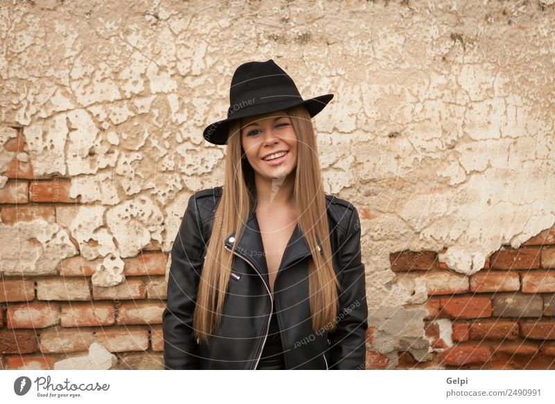 Attractive Girl With A Hat Over A Royalty Free Stock Photo