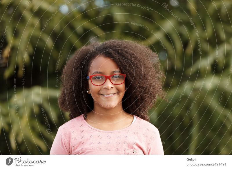 Pretty girl with long afro hair Joy Happy Beautiful Child Human being Toddler Infancy Nature Street Afro Smiling Happiness Small Cute Black Innocent kid african