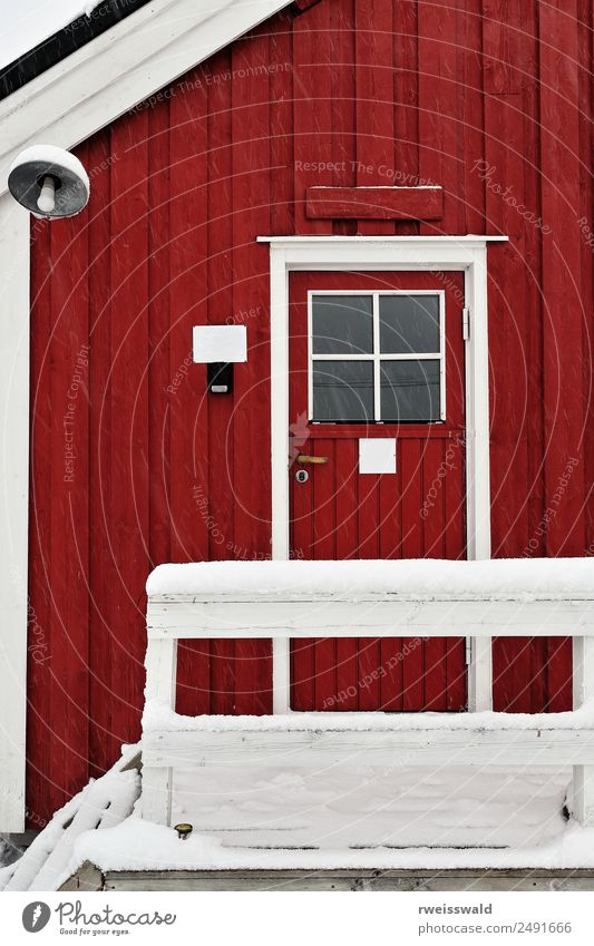 Tourist rorbu-local seasonal cottage. Hamnoy-Reine-Norway-0385 Vacation & Travel House (Residential Structure) Calm Winter Window Architecture Wall (building)