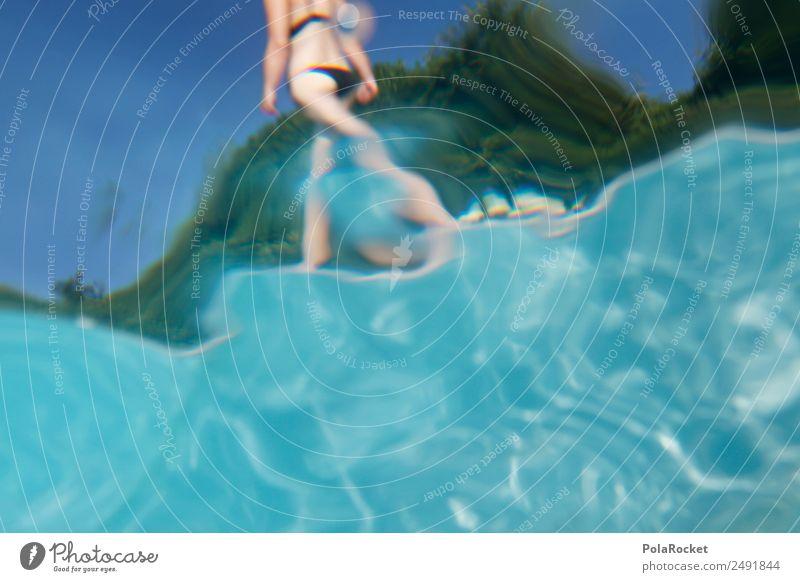 Vacation & Travel Blue Water Eroticism Art Esthetic Swimming pool Bottom Bikini Vacation photo Vacation mood Vacation destination Hotel pool Vacation traffic