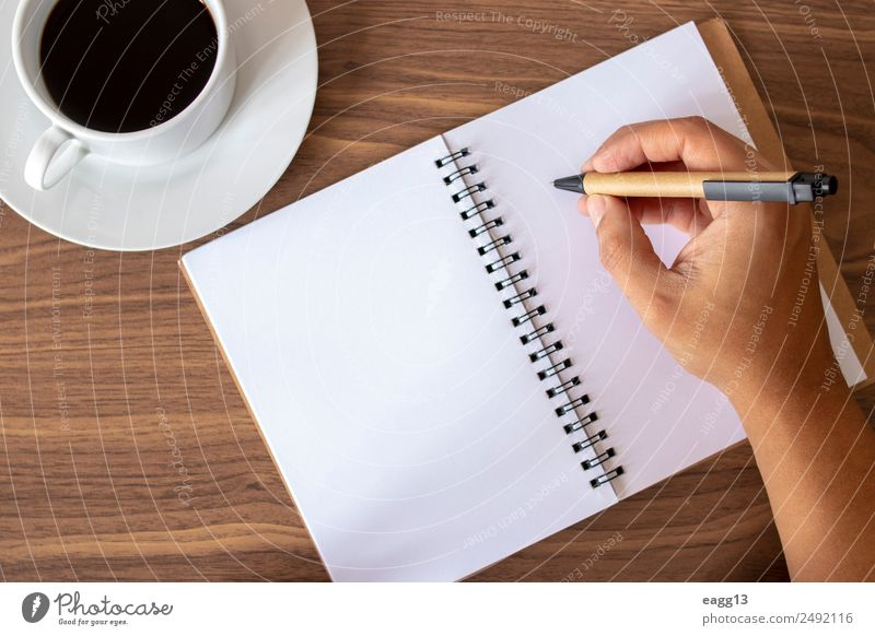 Writing inspired notes with coffee Coffee Lifestyle Desk Table Study Work and employment Office work Workplace Business Human being Hand Fingers 1 30 - 45 years